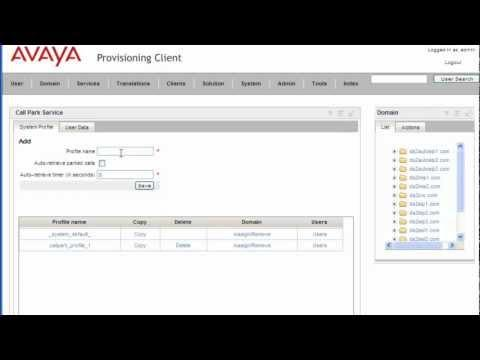 How To Configure Call Park Service On Avaya AS5300