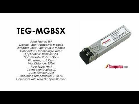 TEG-MGBSX  |  TRENDnet Compatible 1000Base-SX 850nm 550m SFP