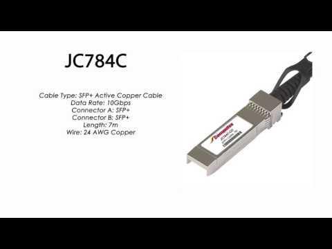 JC784C  |  HP Compatible SFP+ Active Copper Cable 7m