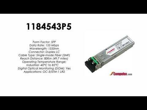 1184543P5  |  Adtran Compatible OC-3/155Mbps 1550nm 80km SFP