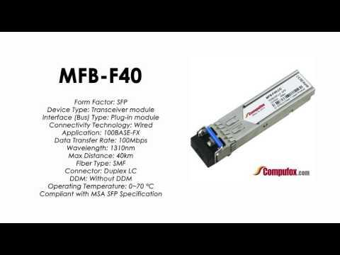 MFB-F40  |  Planet Compatible 100Base-FX 1310nm 40KM SFP