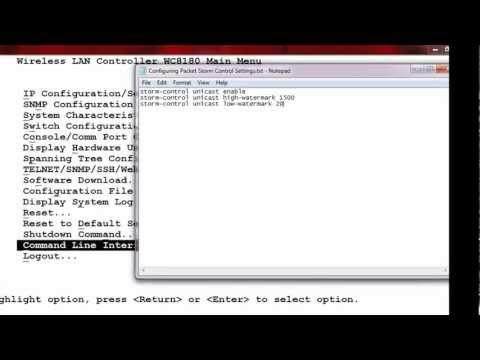 How To Configure Packet Storm Control Settings On An Avaya WLAN 8100 WC