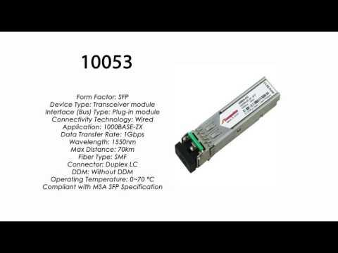10053  |  Extreme Networks Compatible 1000BASE-ZX SFP 1550nm 70km