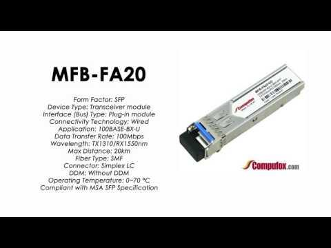 MFB-FA20  |  Planet Compatible 100Base-BX Tx1310nm/Rx1550nm 20km SFP