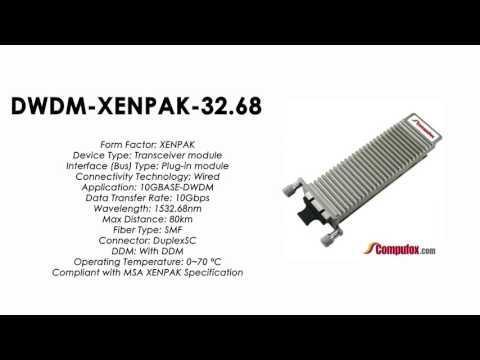 DWDM-XENPAK-32.68  |  Cisco Compatible 10GBASE-DWDM XENPAK 1532.68nm 80km