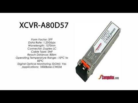 XCVR-A80D57  |  Ciena Compatible 1000Base-CWDM 80km 1570nm SFP