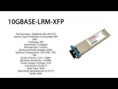 10GBASE-LRM-XFP | Enterasys Compatible 10GBASE-LRM XFP 1310nm 220m MMF