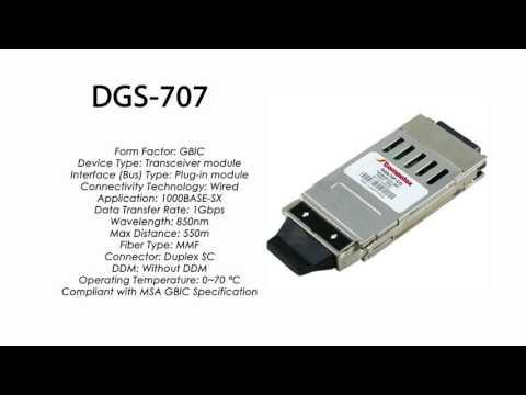 DGS-707 | D-Link Compatible 1000BASE-SX GBIC 850nm 550m