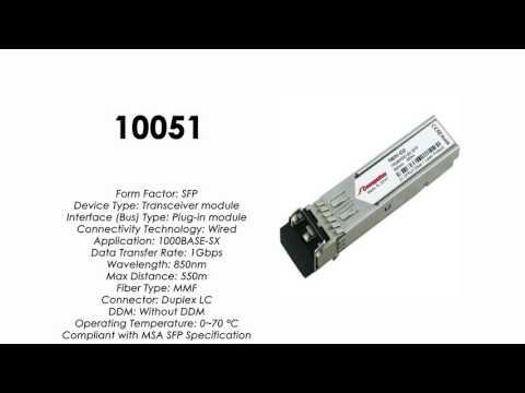 10051  |  Extreme Networks Compatible 1000BASE-SX SFP 850nm 550m MMF