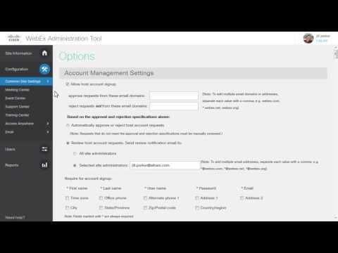 WebEx Site Admin: Navigate Site Administration (WBS30)