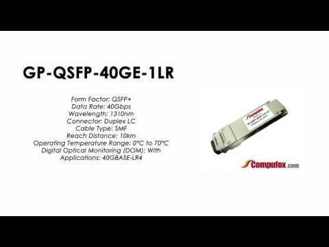 GP-QSFP-40GE-1LR | Force10 Compatible 40GBase-LR4 QSFP+ 10km 1310nm SMF