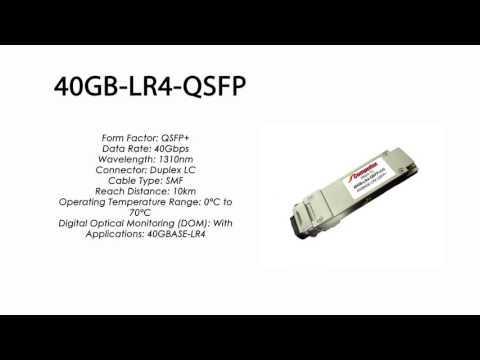 40GB-LR4-QSFP  |  Enterasys Compatible 40GBASE-LR4 QSFP+ 1310nm 10km SMF