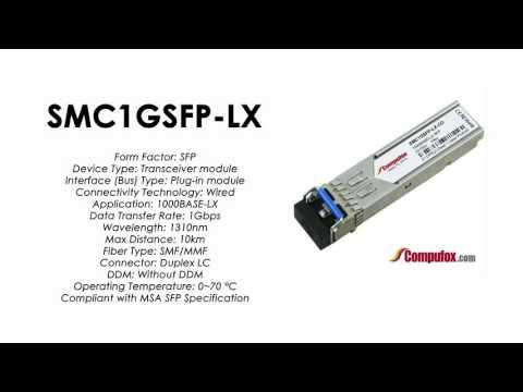 SMC1GSFP-LX  |  SMC Compatible 1000Base-LX 1310nm 10km SFP