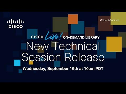 #CiscoChat Live - New Technical Sessions Release