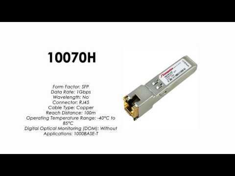 10070H  |  Extreme Compatible 1000BASE-T RJ45 100m SFP Industrial