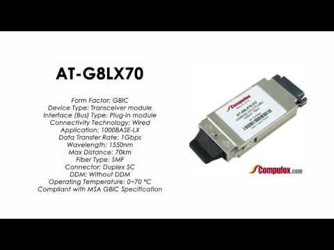 AT-G8LX70  |  Allied Telesis Compatible 1000Base-ZX 1550nm 70km GBIC