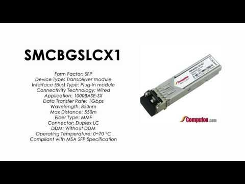 SMCBGSLCX1     SMC Compatible 1000BASE-SX 850nm 550m SFP