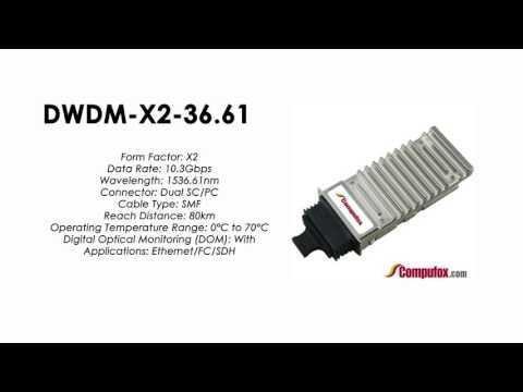 DWDM-X2-36.61  |  Cisco Compatible 10GBASE-DWDM X2 1536.61nm 80km