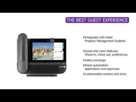 360° Overview Of Alcatel-Lucent 8088 Smart DeskPhone For Hospitality