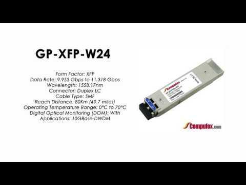GP-XFP-W24  |  Force10 Compatible 10GBASE-DWDM XFP 1558.17nm 80km SMF