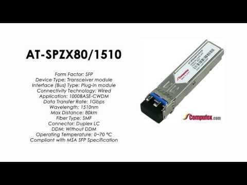 AT-SPZX80/1510  |  Allied Telesis Compatible 1000BASE-CWDM 1510nm 80km SFP