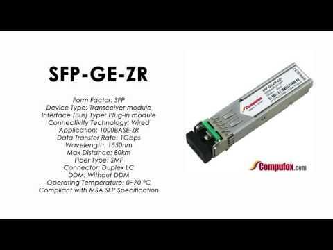 SFP-GE-ZR  |  Redback Compatible 1000BASE-ZR 1550nm 80km SFP