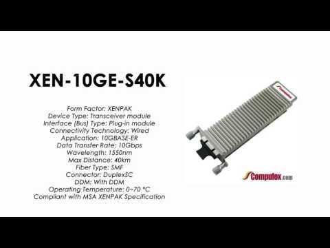 XEN-10GE-S40K  |   ZTE Compatible 10GBase-ER XENPAK 1550nm 40km