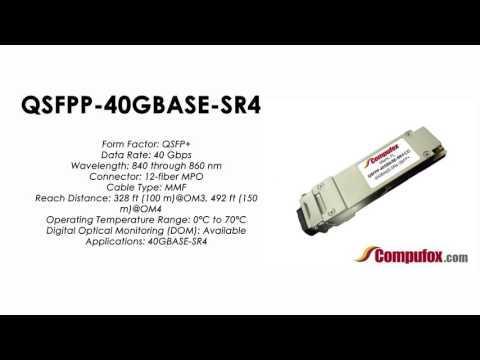 QSFPP-40GBASE-SR4  |  Juniper Compatible 40GBASE-SR4 QSFP+ 850nm 150m