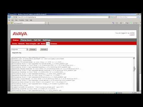 How To View Logs On An Avaya B179 Conference Phone