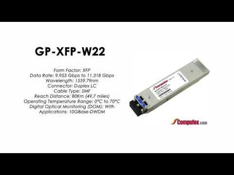 GP-XFP-W22  |  Force10 Compatible 10GBASE-DWDM XFP 1559.79nm 80km SMF