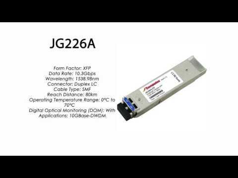 JG226A  |  HP Compatible 10GBase-DWDM XFP 1538.98nm 80km