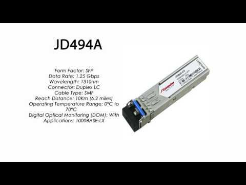 JD494A | HP Compatible 1000Base-LX 1310nm 10km SFP