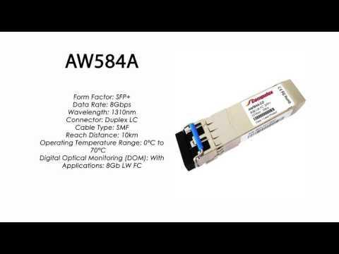AW584A | HP Compatible 8Gb ELW 1310nm 10km FC SFP+
