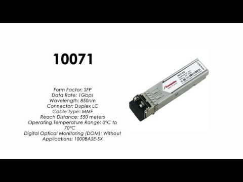10071     Extreme Networks Compatible 1000BASE-SX SFP 850nm 550m (10-Pack)