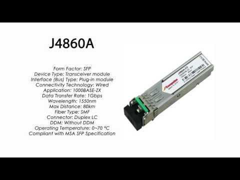 J4860A | HP Compatible 1000Base-ZX 1550nm 80km SMF SFP