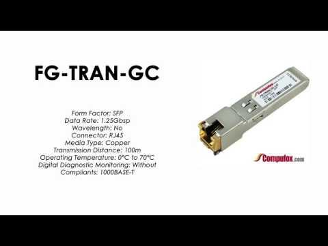 FG-TRAN-GC  |  Fortinet Compatible 1000BASE-T 100m SFP