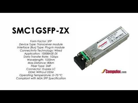 SMC1GSFP-ZX  |  SMC Compatible 1000Base-ZX 1550nm 80km SFP