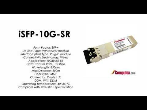 ISFP-10G-SR  |  Alcatel Compatible Industrial 10GBase-SR 850nm 300m SFP+