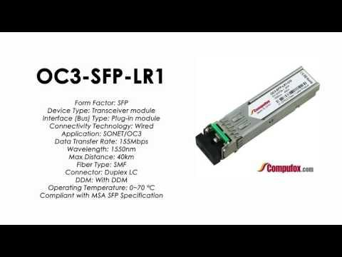 OC3-SFP-LR1  |  Alcatel Compatible ATM-155Mbps/OC3 1550nm 40km SFP