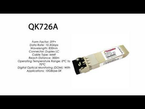 QK726A  |  HP Compatible 10GBase-SR SFP+ 850nm 300m