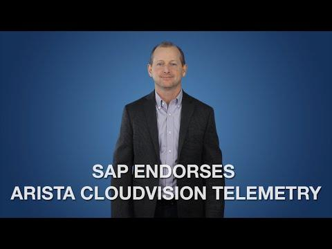 SAP Endorses Arista CloudVision Telemetry