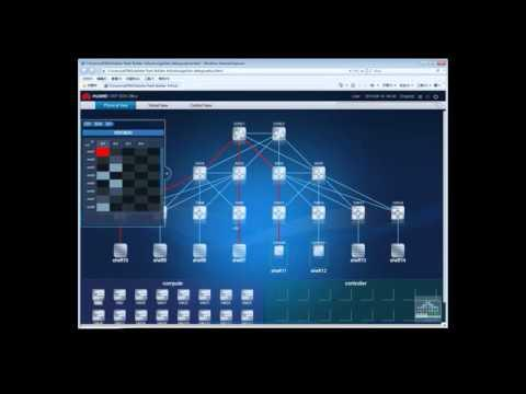 HUAWEI SDN Demo  Cloud Fabric And Openstack Cooperation Solution