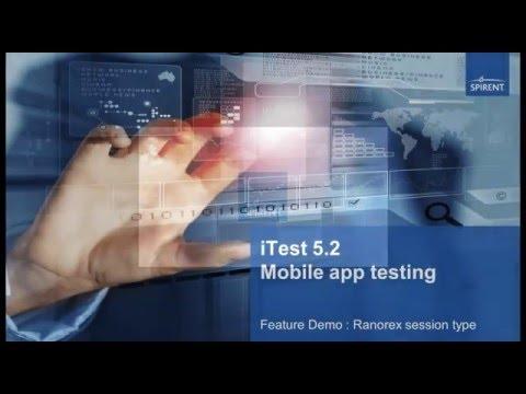 Spirent ITest - Ranorex Mobile App Testing