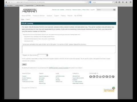 ADTRAN VWLAN Licensing