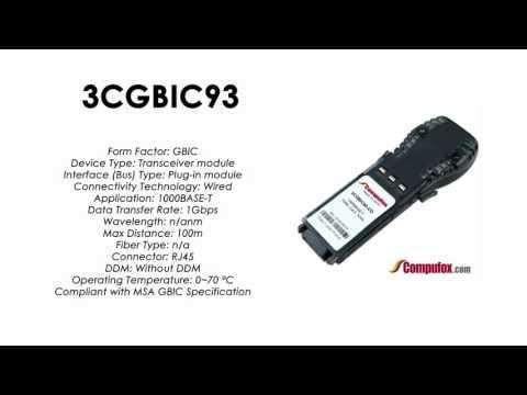 3CGBIC93  |  3Com Compatible 1000BASE-T RJ45 100m GBIC