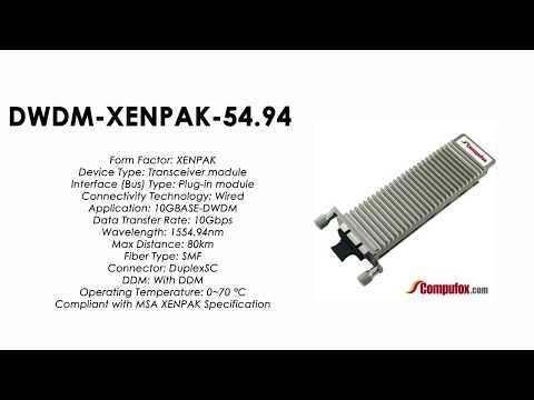 DWDM-XENPAK-54.94  |  Cisco Compatible 10GBASE-DWDM XENPAK 1554.94nm 80km