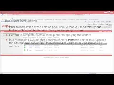 How To Install Service Pack On Avaya Aura Messaging