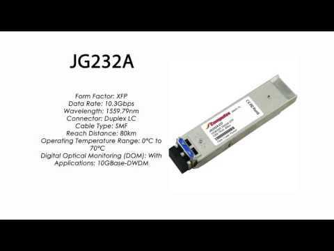 JG232A  |  HP Compatible 10GBase-DWDM XFP 1559.79nm 80km
