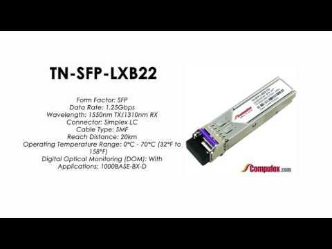 TN-SFP-LXB22  | Transition Compatible 1000BASE-BX SFP 1550nmTx/1310nmRx SMF 20km