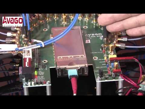 Avago 100G CFP2 SR10 Optical Transceiver Demonstration